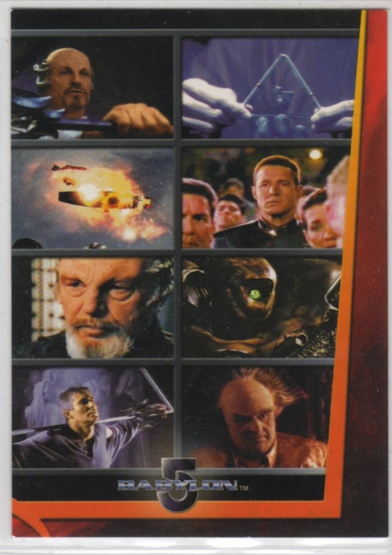 """Complete Babylon 5 Movies Chase Card M3 (Rittenhouse Archives) - Movie Triptych """"In The Beginning"""""""