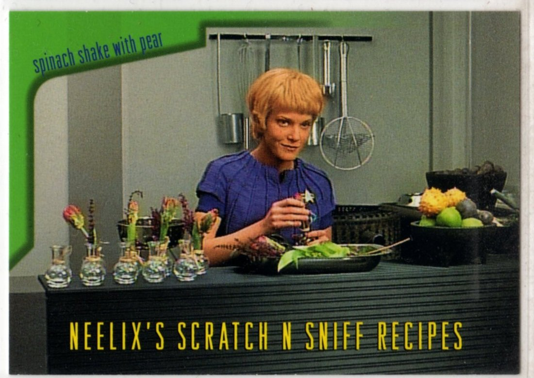 Star Trek Voyager Chase Card R6 (SkyBox) - Neelix's Scratch & Sniff Recipes