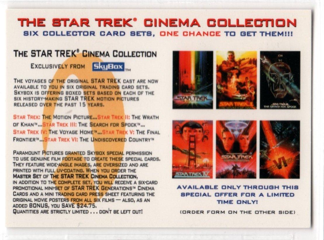 Star Trek Cinema Collection Promo Card (SkyBox)