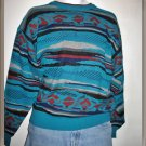 Vintage Unisex Pullover Sweater Southwestern Tribal Design Size - Large