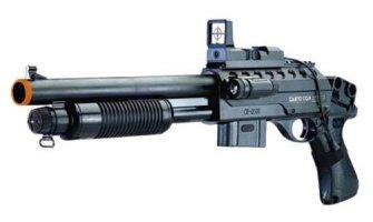 Pump Action Airsoft Shotgun w/ Laser