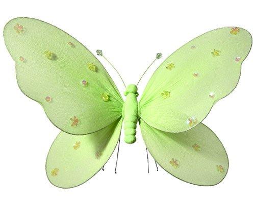 Fabric Butterflies - Girls Room Decor - Green - Medium