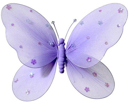 Fabric Butterflies - Girls Room Decor - Purple - Large