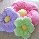 Daisy Flower Pillow - Kids/Girls Room - Purple - Large -