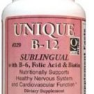 Dee Cee Laboratories Unique B-12, Active Form (Methylcobalamin) 90 Tablets, Sublingual