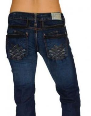 $219 TAVERNITI SO Angie Jean-Straight Leg-NEW-Sz 24