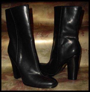 "Nine West DELGADO Black faux leather BOOT 4"" Heel-9 NEW"