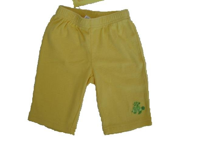 GYMBOREE Bloop Yellow Turtle Pants 0-3 Mo NWT