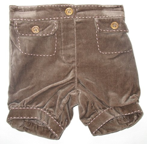 OLD NAVY Brown Velveteen Knickers Shorts 6-12 Mo NWT New