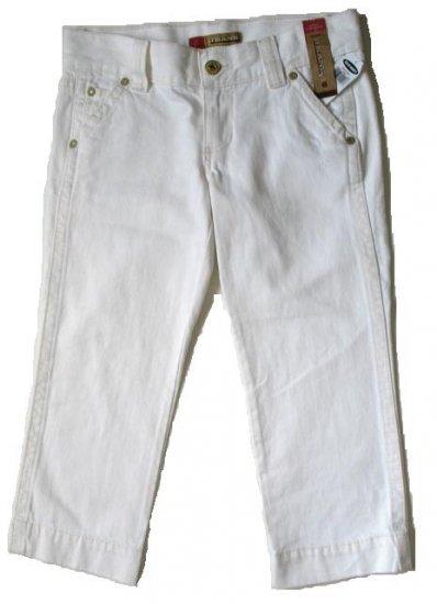 OLD NAVY White Denim Distressed Capri Pants 6 NEW (394112)