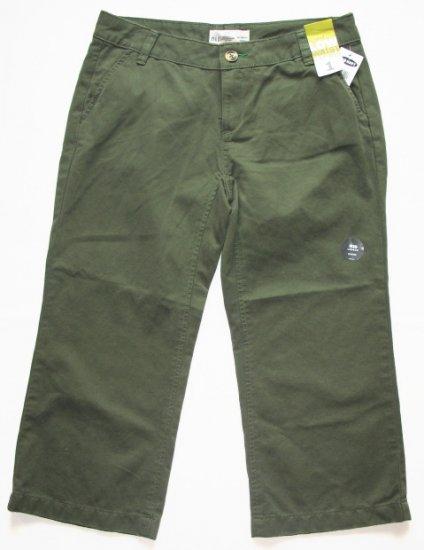 OLD NAVY Green Khaki Capri Pants Womens 1 NEW (402560)