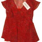OH MAMMA Sheer Paisley Maternity Shirt/Camisole S Small NEW
