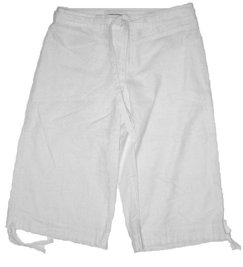 JONESWEAR White Linen Crop Pants Sz 8 NEW $44
