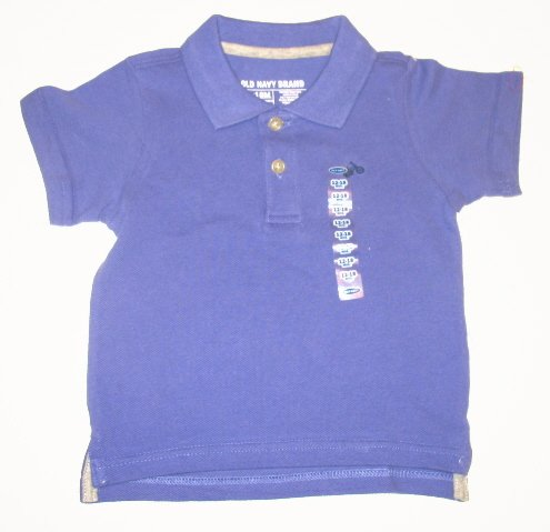 OLD NAVY Boys Purple Polo Shirt 6-12 Mo NEW