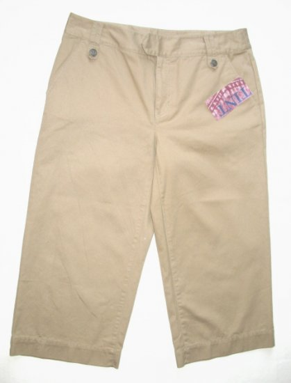 TINT Tan Khaki Capri Pants Sz 8 NEW $40