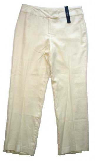 JONESWEAR Petite Linen Pants Sz 10 P NEW $58