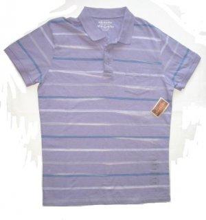 ARIZONA Mens Purple Stripe Polo Shirt Sz L NEW