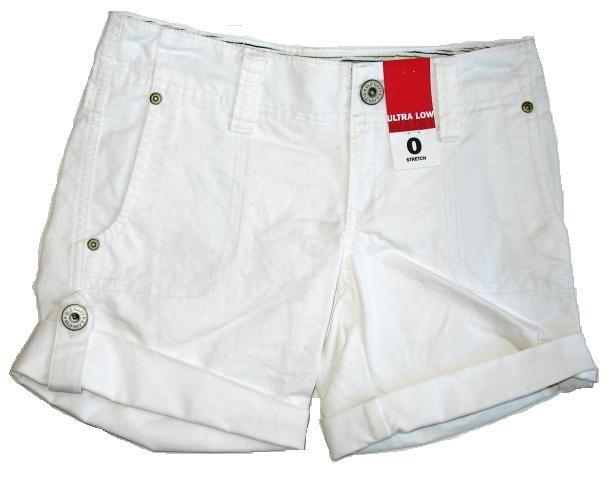 OLD NAVY White Cuff Shorts Sz 0 NEW