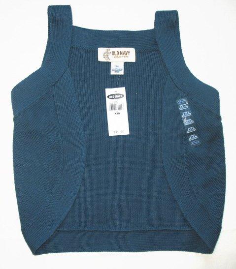 OLD NAVY Sleeveless Sweater Vest Shrug XXS NEW