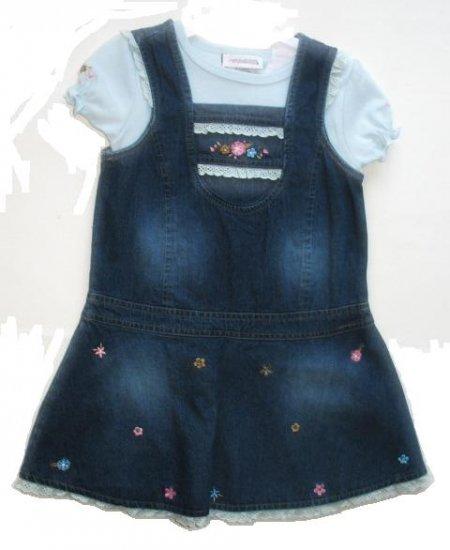 YOUNGLAND Denim Jumper Shirt Dress 4T NEW
