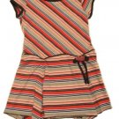 DISORDERLY KIDS Brown Orange Stripe Dress 6 NEW $35