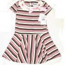 DISORDERLY KIDS Brown Pink Satin Ribbon Dress 5 NEW $35