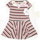 DISORDERLY KIDS Brown Pink Satin Ribbon Dress 5 NEW $35
