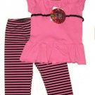 ZOEY GIRL 2pc Set Leggings Top Pink 4 NEW $35