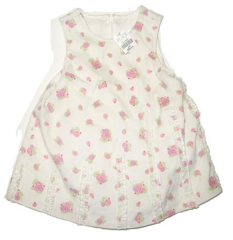 TCP CHILDRENS PLACE Ivory Cord Jumper Dress 3-6 Mo NEW