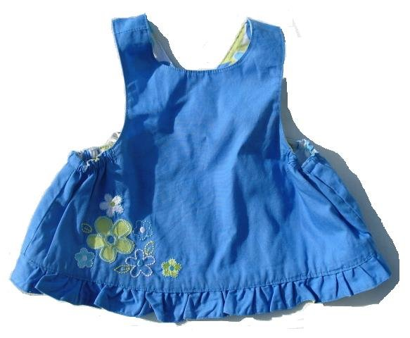 Reversible Blue Floral Swing Top 6-9 Mo NEW