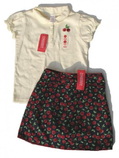 GYMBOREE Cherry Pie Skort Top Set 9 NEW $41