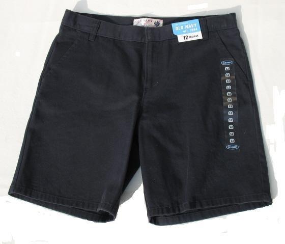 OLD NAVY Navy Blue Uniform School Shorts Girls 12 R NEW