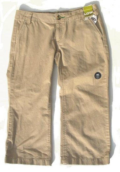 OLD NAVY Tan Khaki Capri Pants 1 NEW (402560)