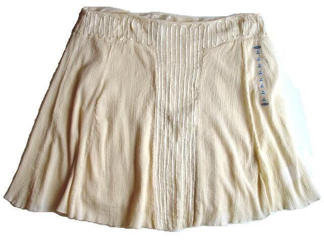 OLD NAVY Cream Gauze Ribbon Skirt 20 Plus NEW $39