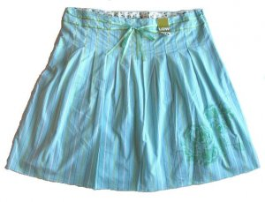 OLD NAVY Womens Aqua Ribbon Skirt 20 NEW $29