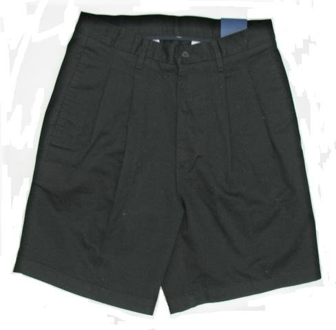 OLEG CASSINI Casuals Mens Black Twill Shorts 32 NEW