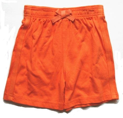 PEEK A BABE Girls Orange Bow Shorts 24 Mo NEW