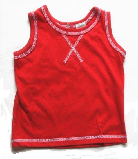 PEEK A BABE Boys Red  X Tank Top 12 Mo NEW