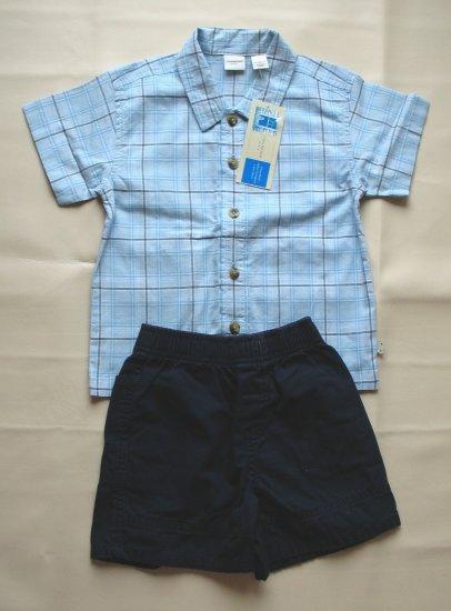 COVINGTON Boys Button Shirt CIRCO Shorts 24 Mo EUC