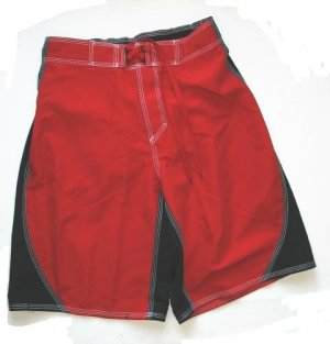 ARIZONA Mens Board Shorts Swim Trunk Red S Small NEW $30