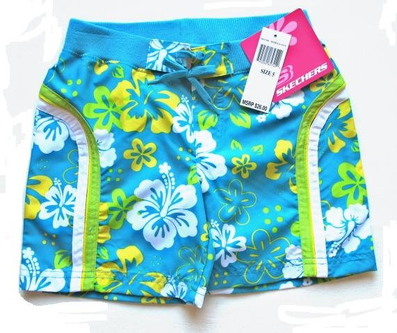 SKECHERS Girls Tropical Board Shorts 5 NEW $26