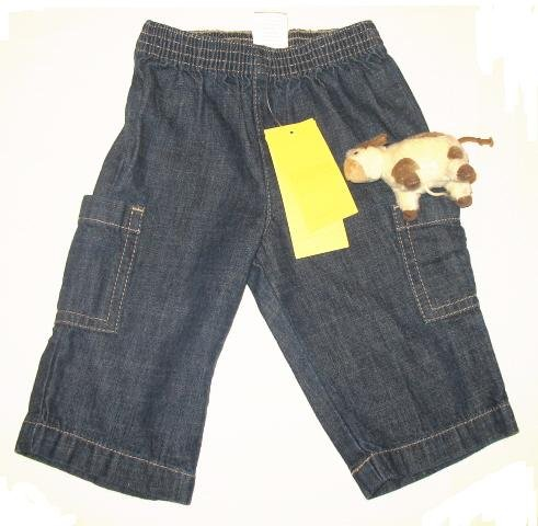 GYMBOREE Boys E I E I O Cow Jeans 3 6 Mo NEW