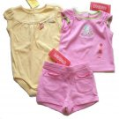 GYMBOREE Sweet Shop Girls 3pc Shorts Tank Top Outfit Set 3 6 Mo NEW $43