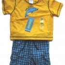 GYMBOREE Dive Shop Boys Shorts Dolphin T Shirt Outfit Set 3 6 Mo NEW $31