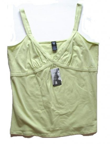 WORK WEEKEND Womens Plus Green Tank Top Cami 1X 16 18 NEW $44