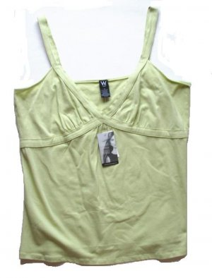 WORK WEEKEND Womens Plus Green Tank Top Cami 1X 16 18 NEW $44