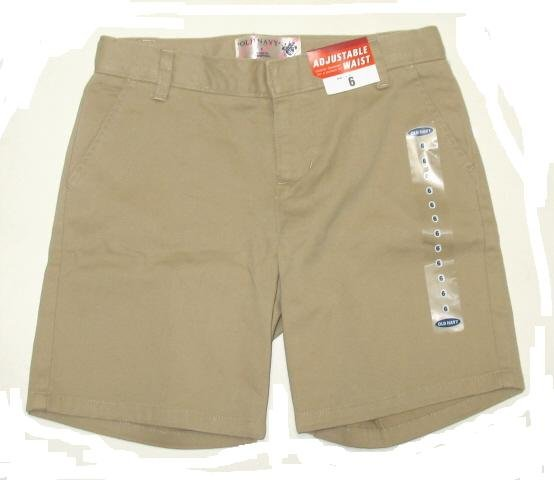 OLD NAVY Girls Tan School Shorts 14 R NEW