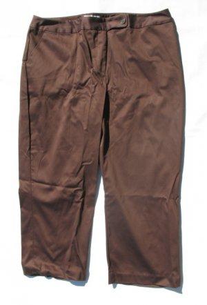 WORTHINGTON Womens Plus Brown Stretch Capri Crop Pants 24W NEW