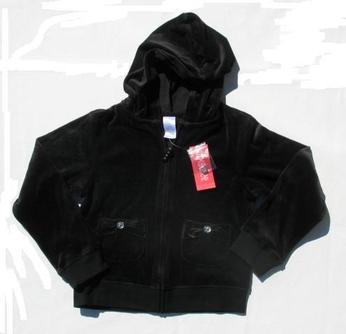 GYMBOREE Family Portrait Girls Holiday Black Velour Zip Hoodie Jacket 9 NEW