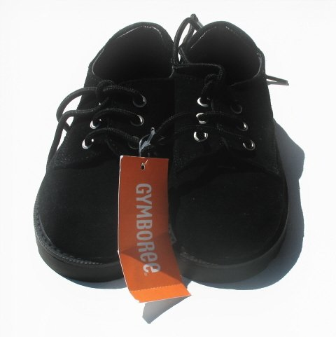 GYMBOREE Family Portrait Holiday Boys Black Suede Oxford Shoes 10 NEW
